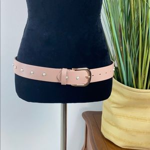 Dusty pink belt with pearl rhinestones
